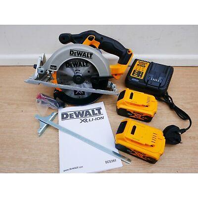 DEWALT XR 18V DCS391 DCS391P2 165MM CIRCULAR SAW 5 AH LI-ION DEEP TSTAK CASE
