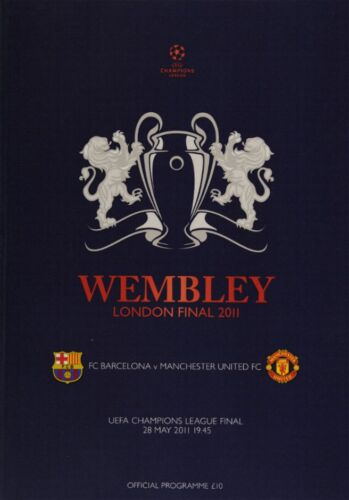 2011 CHAMPIONS LEAGUE FINAL MAN UTD v BARCELONA