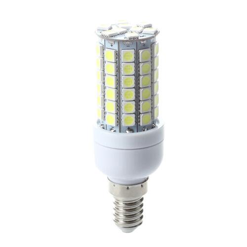 E14 8W 69 LED 5050 SMD Leuchtmittel Birne Leuchte Mais Leuchte weiss DE E1F9