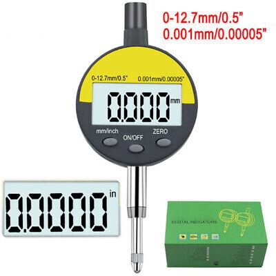 0-12.7mm Digital Dial Indicator Gauge Precision Measuring 0.001mm mm//inch