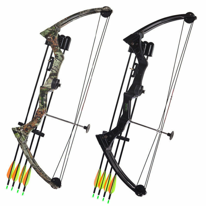 20lbs negro Camo Archery Tradition Right Hand Compound Bow Hunting Fishing