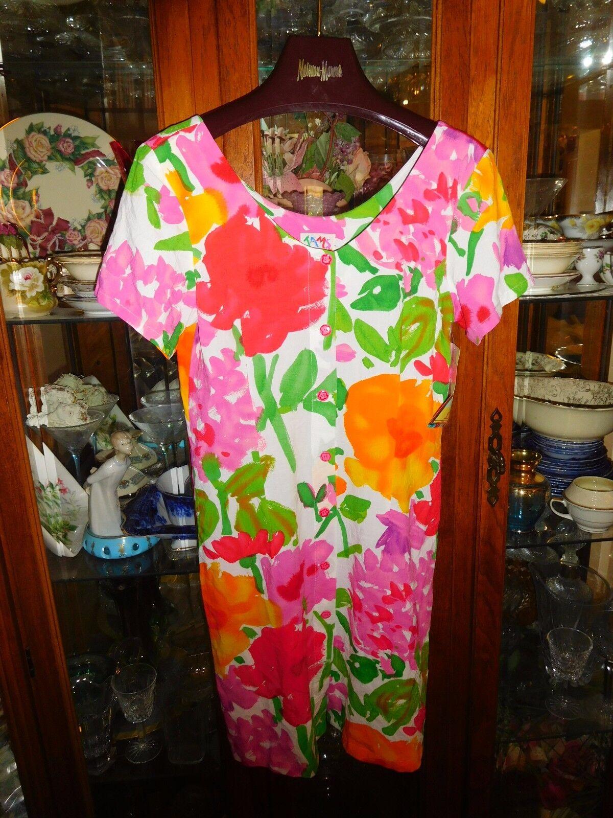 Jams World NEW NWT 5  Majora Hawaiian FAB Baby Doll Hattie Button Front Floral