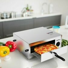 Kitchen Electric Commercial Pizza Oven Stainless Steel Pan Countertop Horno