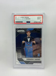 2016-Panini-Prizm-DOMANTAS-SABONIS-Rookie-Card-RC-255-PSA-9-Mint-All-Star