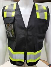 Fx Two Tone Black Safety Vest With 4 Front Pocket Xsmall To 5xl