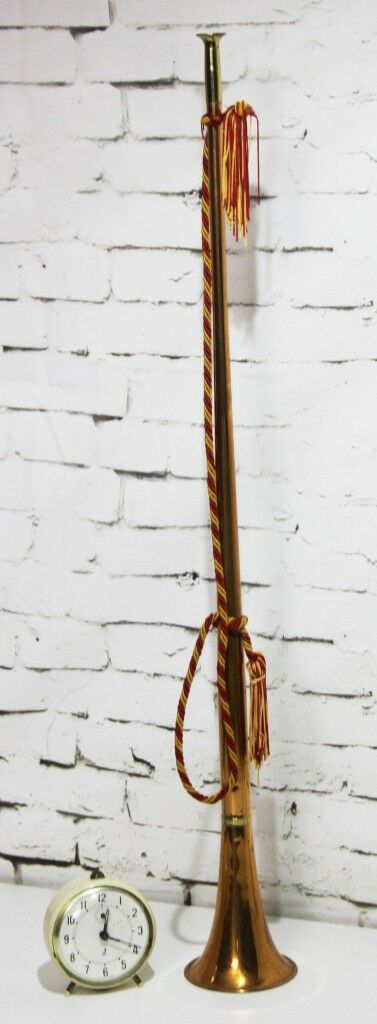 Vintage English Brass & Copper Hunting Horn - FREE Shipping [PL3908]