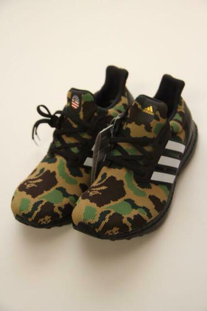 Authentic a Bathing Ape Bape X adidas Ultra Boost Green US 10 SNEAKERS