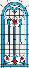 Dollhouse 1/12 Scale Classics Simulated Leadlight Stained Glass Window Insert 02