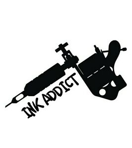 Car Window Decal Race Outdoor Sticker Ink Addict Tattoo Fiend