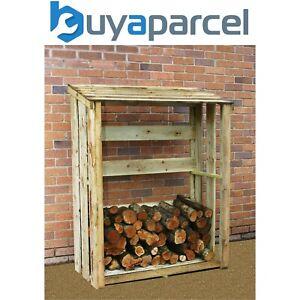 Outdoor Slatted Wooden Kindling /& Log Seasoning Drying /& Airing Firewood Store
