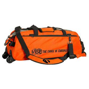 Vise 3 Ball Triple Tote Bowling Bag Orange