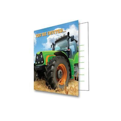 Traktor Party Einladung 8 Stück Bauernhof Landmaschinen Trecker Kindergeburtstag