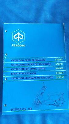 Catalogo Parti Di Ricambio Piaggio Skipper 125 150 Spare Parts 1998 578597