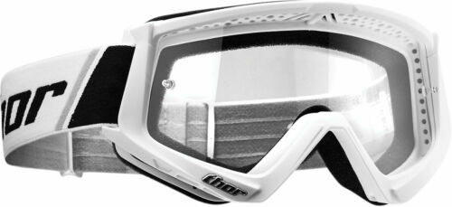 Youth White//Black Thor MX Motocross YOUTH Combat Goggles