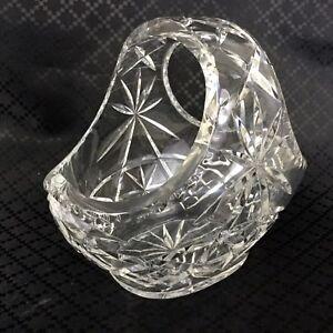 Kristall-Korb-Geschliffenes-Glas-Schale-Klassisch-Tisch-Mittelstueck