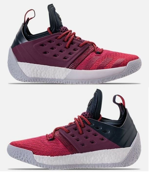 ADIDAS HARDEN VOL.2 MEN'S BOOST BASKETBALL MAROON - BLACK AUTHENTIC NEW IN BOX