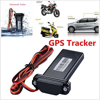 Black Real Time GPS Tracker GSM Tracking Monitor Tool For Car Motorcycle Bike