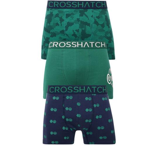 Herren 3 Packung Crosshatch Boxershorts Unterwäsche Unterhose Badehose Multipack