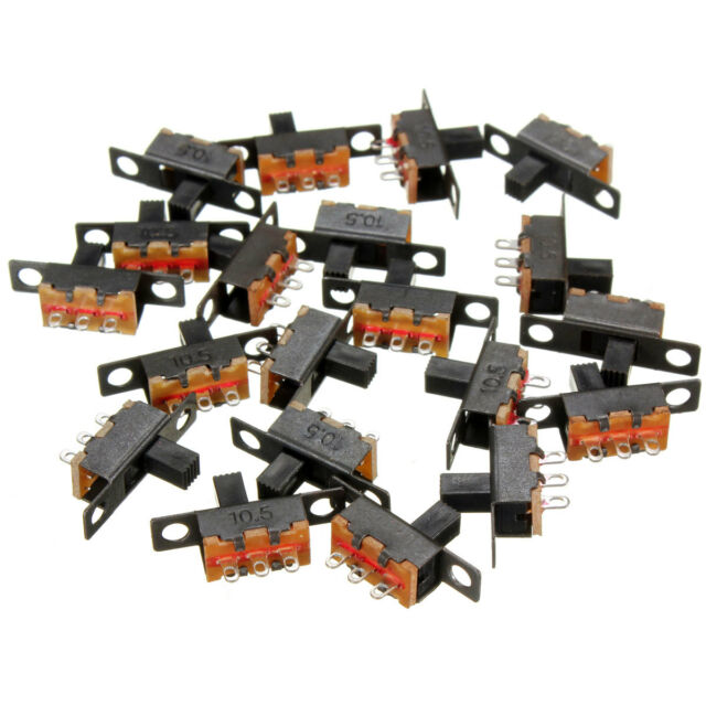 NEW 20pcs 5V 0.3A Black Mini Size SPDT Slide Switch On-Off 3-Pin PCB for DIY