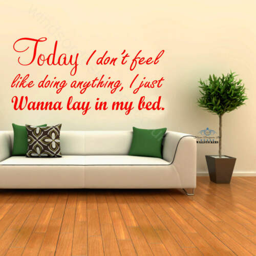 LAZY SONG wall art sticker quote decor Bruno Mars decor