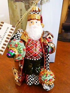 Mackenzie Childs Christmas Ornaments.Details About Mackenzie Childs Nature S Friend Santa Christmas Ornament Retired New Box