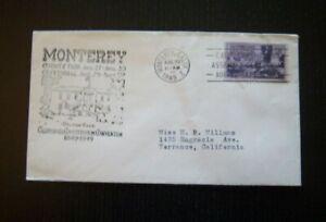 Monterey County Fair / Centennial Monterey, CA, Cover 08/29/1949 MIK