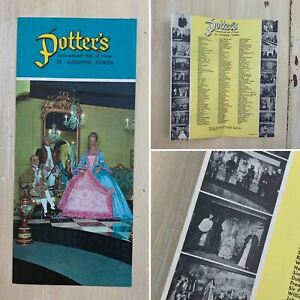 POTTERS WAX MUSEUM - Vtg Booklet Map St Augustine Florida Travel Guide Pamphlet