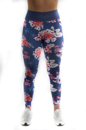Blue Floral Alphalete, CLS, Cute Booty Lounge TF Floral Scrunch Leggings