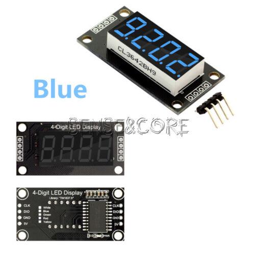 "0.36/"" 4-digit 7-Segment Tube LED TM1637 Blue Digital Display Module For Arduino"