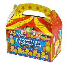 24 Carnival Party Treat Boxes Favors Goody Bags Bazaar Prize Gift Basket Circus