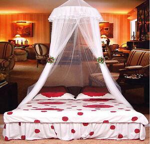 Fesselnd Das Bild Wird Geladen Spitze Bett Moskitonetz Mesh Baldachin Prinzessin  Runde Kuppel