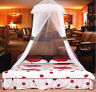 Lace Bed Mosquito Netting Mesh Canopy Princess Round Dome Bedding Net White hcus