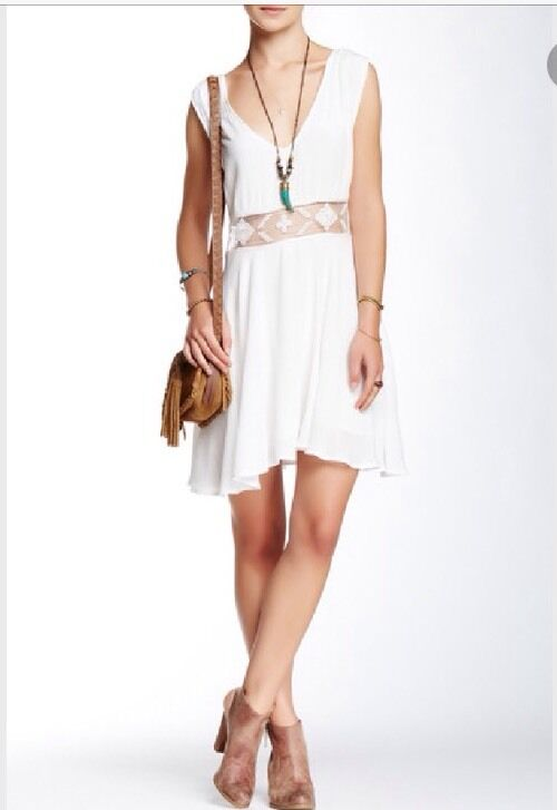 NWT FREE PEOPLE fit and flare lace dress SIZE M