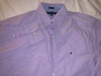 Tommy Hilfiger dress shirt long sleeve 091825 red 16 1//2 32-33 slim fit Mens