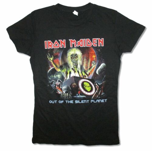 Iron Maiden Out Of The Silent Planet Girls Juniors Black T Shirt New Official