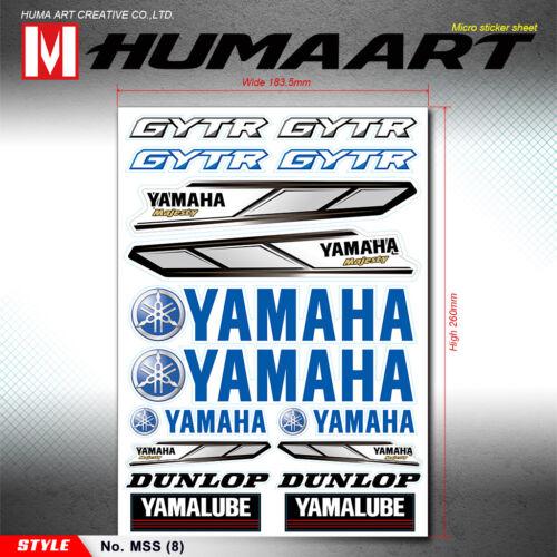 YAMAHA Gytr DUNLOP Sponsor Adesivi foglio MOTO BIKE ATV DECORO Sticker Decal