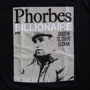 ESEL Chapo Joaquin Guzman Mexican Drug Cartel Escape Mens Black T-Shirt Tee