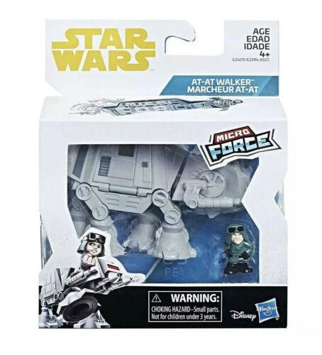 Disney Star Wars atat Avec le commandant Micro Force Toy Figure Playset NOUVEAU Hasbro