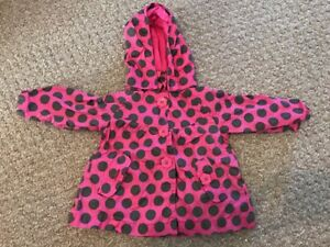 * John Lewis Girls Pink Spotty Jacket 3-6 Months Girls' Clothing (newborn-5t) Baby & Toddler Clothing Keep You Fit All The Time
