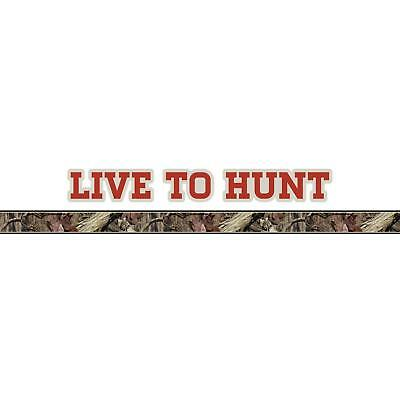Mossy Oak Graphics 10012-LH-WR Winter Live to Hunt Logo with Camouflage Pin Stripe
