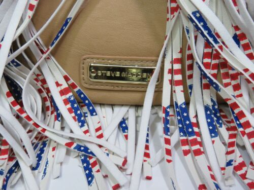 4 Juli Tan Einkaufstasche Flag Herzen Madden Mit Steve Ledertasche Usa Fransen wBzv7
