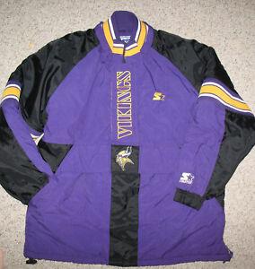 Image is loading Vintage-Starter-Minnesota-Vikings-NFL-Large-Jacket-Coat- 85e22dfc6