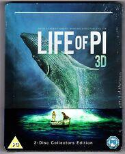 LIFE OF PI 3D & 2D 2-DISC BLU-RAY STEELBOOK NEU & OVP (3D MIT DEUTSCHEM TON)