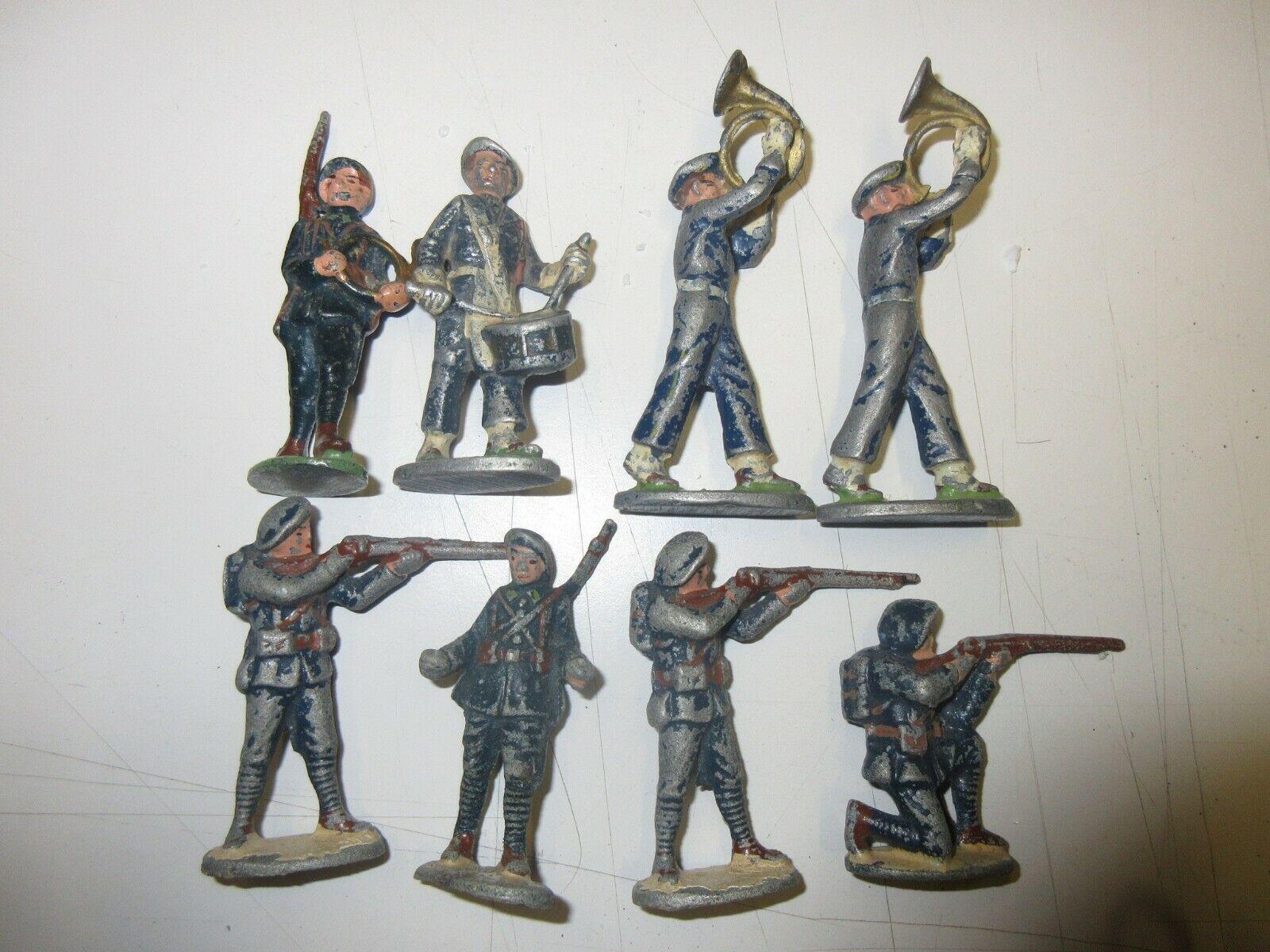 Bündel von 8 Figures, Alpine Jäger   Militärische Aluminium, Quiralu; H 6,5 CM