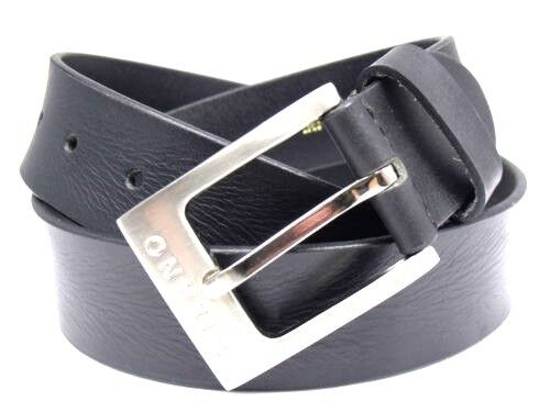 MENS PREMIUM HIGH QUALITY GENUINE BLACK LEATHER BELT DESIGNED BY MILANO