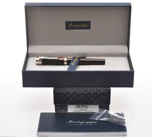 Montegrappa-Desiderio-chocolate-amp-sterling-silver-fountain-pen-new-pristine-box