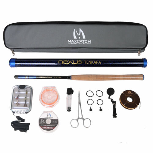 Maxcatch Nexus Tenkara Fly Fishing Rod combo 12//13//13/'6ft 7:3Action Complete Kit
