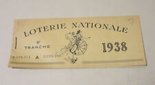 ancien carnet loterie nationale 1938 7 tickets