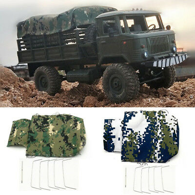 Canvas Truck Hood Cover Cloth for WPL B-24 B-16 1//16 Military Truck Rock Crawler