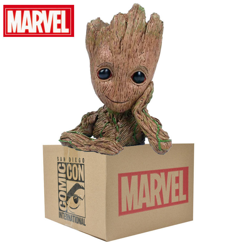 Marvel Guardians of the Galaxy 2 Groot Model Doll Action Figures Doll Model Pencil Vase Toy 057893
